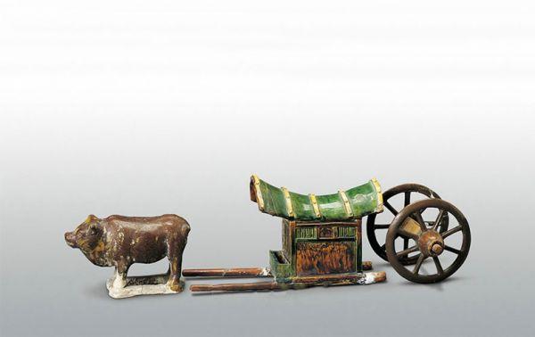 唐代 · 三彩牛车(陕西历史博物馆)