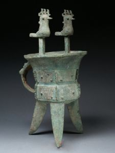 商代 · 凤柱斝(陕西历史博物馆)