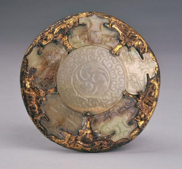 西汉 · 鎏金嵌玉饰(河南博物院)