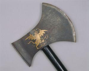 清代 · 木柄飞虎斧(故宫博物院)