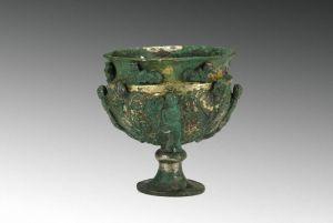 北魏 · 人物动物纹鎏金银高足杯(山西博物院)