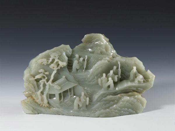 清代 · 山水人物玉山(上海博物馆)