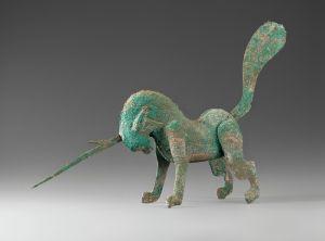 汉代 · 铜独角兽(甘肃省博物馆)