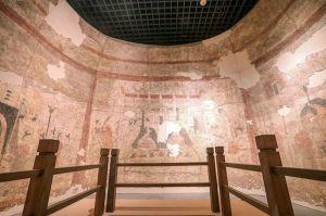 """黄松:古墓壁画以后有望原址保存,""""墓葬壁画原位保护""""立项公示"""