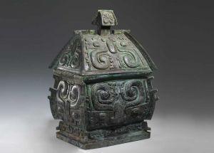 西周 · 兽面纹方彝(山西博物院)