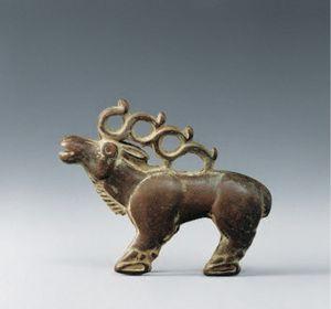 西汉 · 青铜麋鹿(甘肃省博物馆)