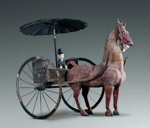 西汉 · 彩绘木轺车(甘肃省博物馆)