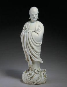 明代 · 德化窑白釉达摩像(故宫博物院)