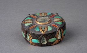 西汉 · 铜镶嵌仪仗顶饰(河北博物院)