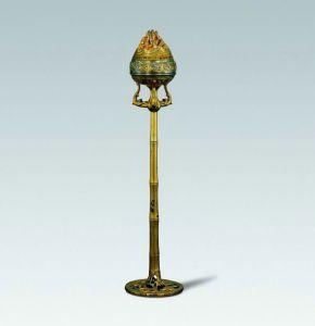 西汉 · 鎏金银竹节熏炉(陕西历史博物馆)