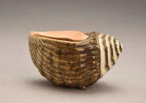 清代 · 仿海螺像生瓷杯(河南博物院)