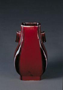 清代 · 仿钧窑变釉杏圆瓶(故宫博物院)