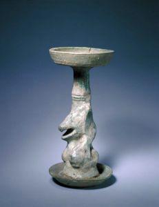 汉代 · 陶绿釉熊形灯(故宫博物院)