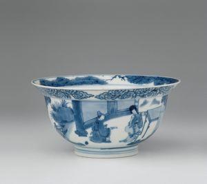 清代 · 青花人物纹碗(甘肃省博物馆)