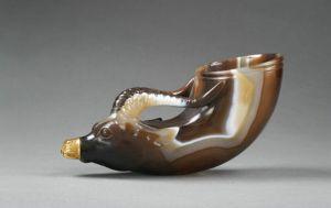 唐代 · 镶金兽首玛瑙杯(陕西历史博物馆)