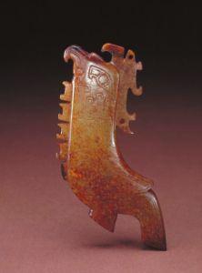 商代 · 玉刻铭鸟形佩(故宫博物院)