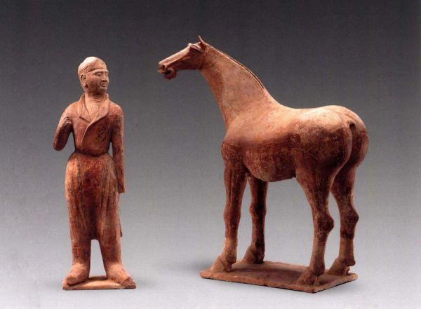 唐代 · 牵马俑与马俑(宁夏博物馆)