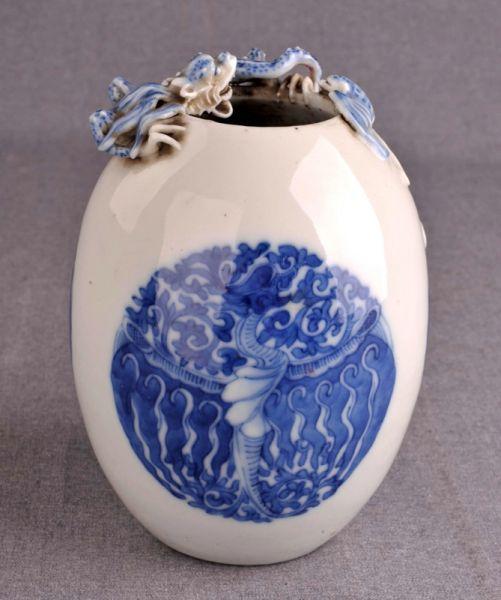 清代 · 青花龙凤纹罐(贵州省博物馆)