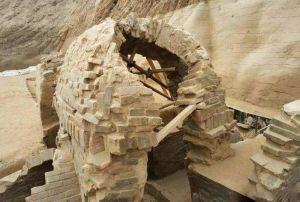 山东:德州一工地发现东汉古墓