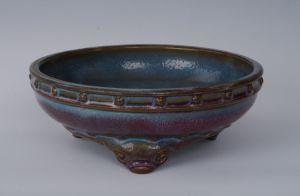 宋代 · 钧窑鼓式瓷洗(青岛市博物馆)